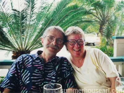 Will and Helen in Hawaii, summerhouseart.com