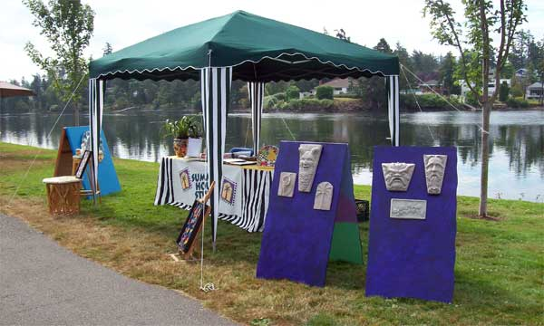 "Our site at the ""Gorge on Art"" show"
