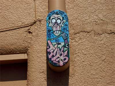 Odd graffiti in an odd spot