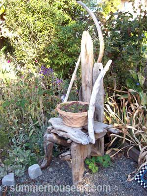 Will s driftwood chair sculpture and other found garden Driftwood sculptures for garden