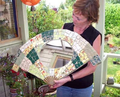 Judy's finished fan mirror