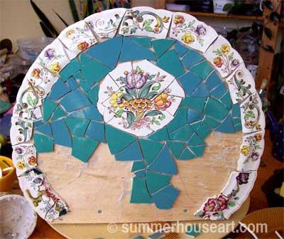 back, progress, Buddha Shrine by Helen Bushell, summerhouseart.com