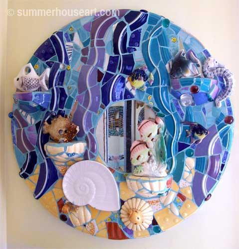 A Fishy Mosaic by Helen Bushell summerhouseart.com
