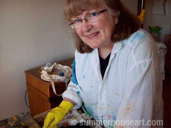 Student Marianne Summerhouse Art mosaic class