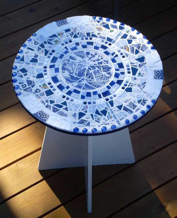 Murray Goode's Blue Willow Table