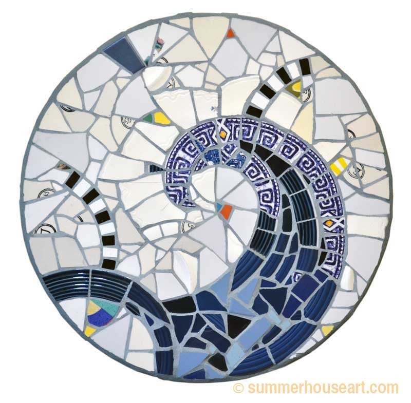 Blue Fandango Mosaic, Will Bushell, summerhouseart.com