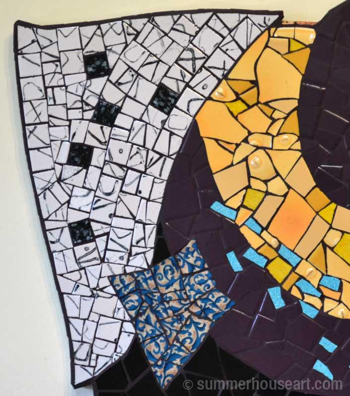 Purple Spiral Mosaic by Helen Bushell, summerhouseart.com