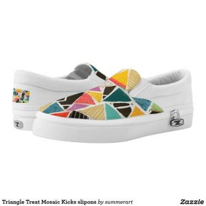 Triangle Treat Mosaic Kicks, Summerhouseart.com, Zazzle