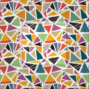 Triangle Treat fabric, close up, Zazzle, Summerhouse Art