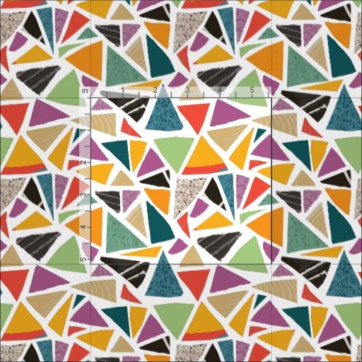 Triangle Treat fabric, close up, Zazzle, Summerhouse Art
