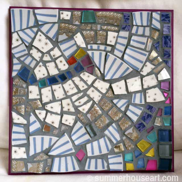 Student JIllian's Mosaic in Summerhouse Art mosaic classes