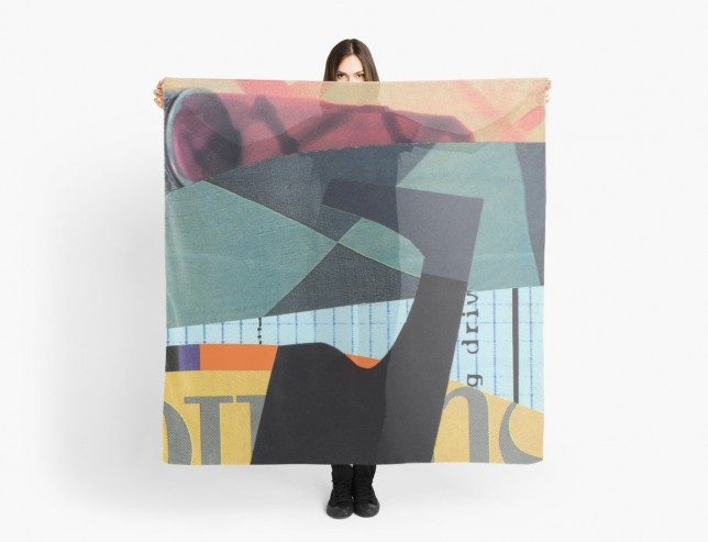 Collage scarf by Will Bushell on Red Bubble