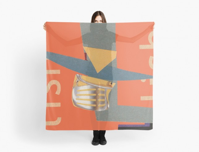 """Tues Afternoon"" collage scarf by Will Bushell on Red Bubble"