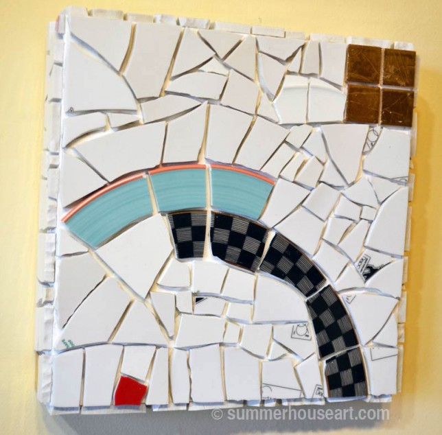 Ungrouted Blue Over mosaic by Will Bushell, summerhouseart.com