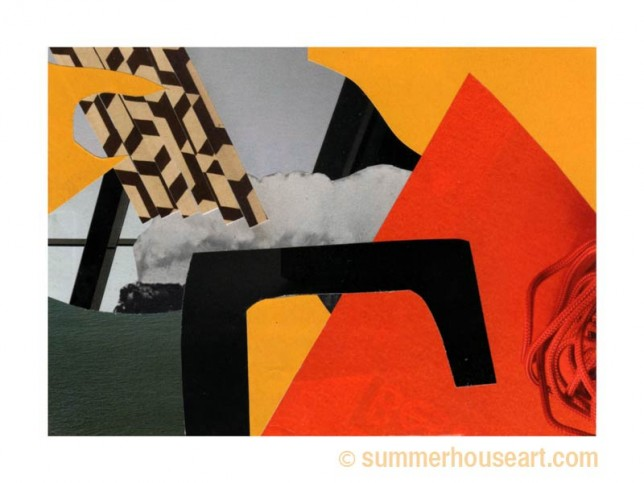 Round the Bend, collage, by Will Bushell, summerhouseart.com