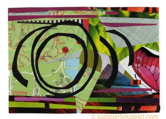 Tornado, collage, by Helen Bushell, summerhouseart.com