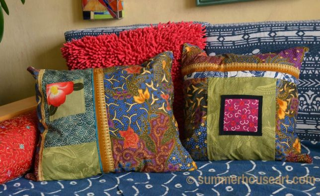 2 new Pillows for the Boho Daybed, summerhouseart.com