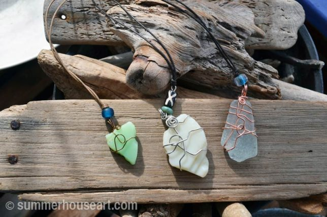 Beach necklaces by Will Bushell, summerhouseart.com