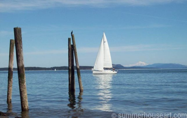 Sailboat in Sidney BC summerhouseart.com