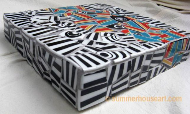 Striped mosaic, by Helen Bushell, summerhouseart.com