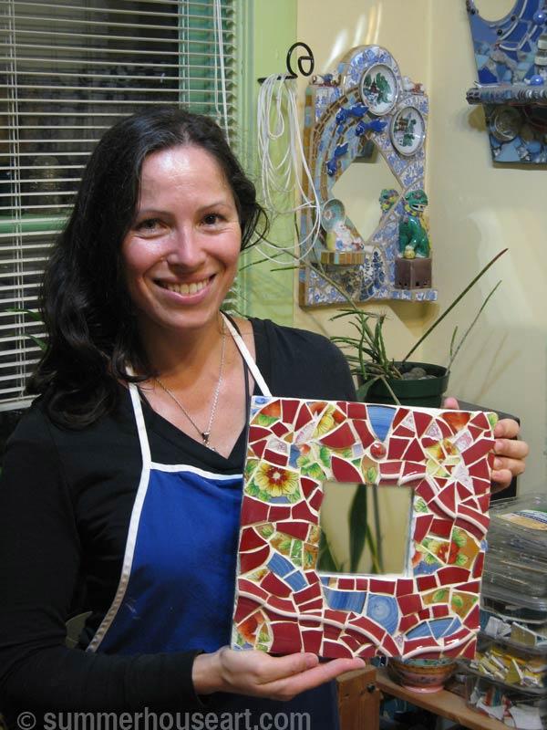 Student Irina with her Mosaic, summerhouseart.com