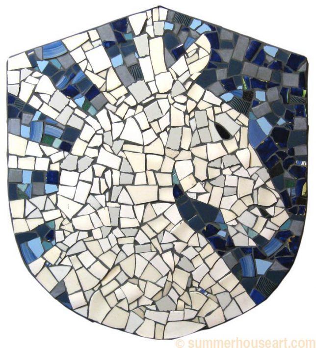 Student Jessica's Finished Mosaic, summerhouseart.com