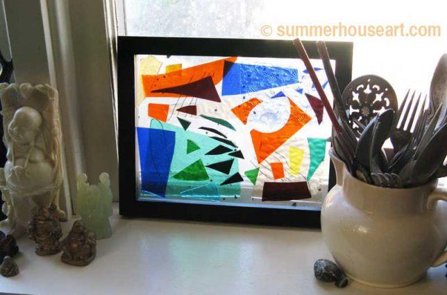 Abstract Glass in Window, Helen Bushell, summerhouseart.com