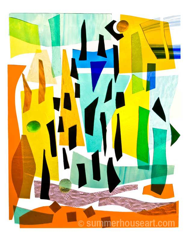 Stained glass composition, Helen Bushell, summerhouseart.com