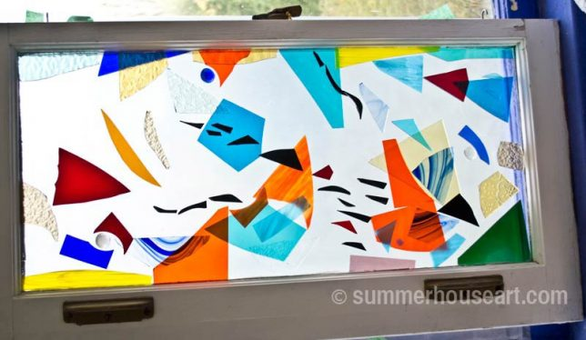 Momentum, stained glass compositon by summerhouseart.com