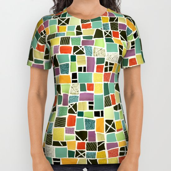 Square On-mosaic-all-over-print-shirts