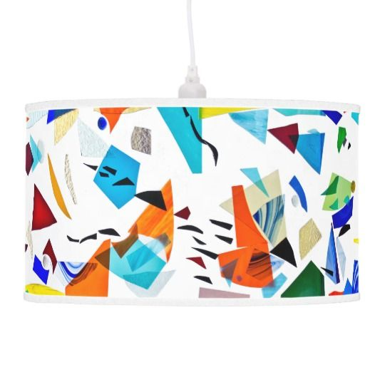 Stained glass pendant lamp on Zazzle by Summerhoue Art
