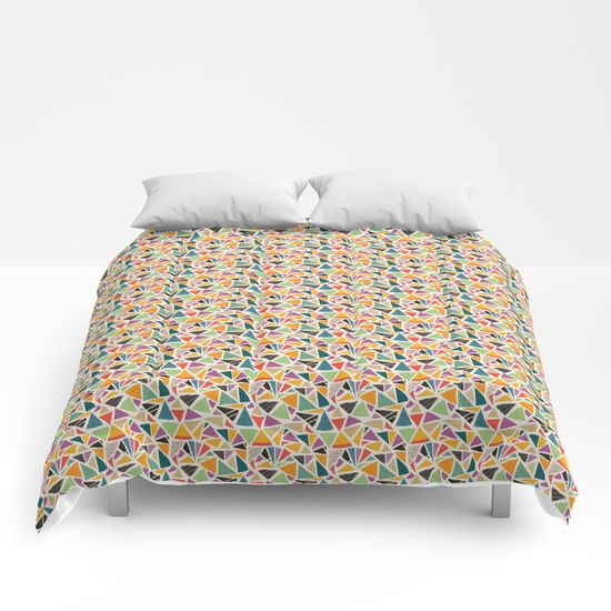 Triangle Treat-mosaic-comforters by Summerhouse Art
