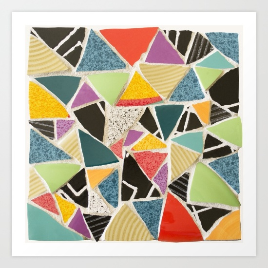 Triangle Treat-mosaic-prints by Summerhouseart on Society 6