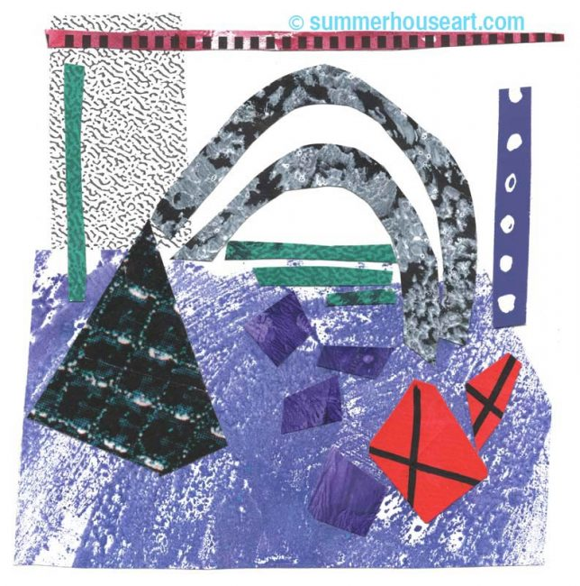 """Northern Arrangement"", paper collage, Helen Bushell, summerhouseart.com"