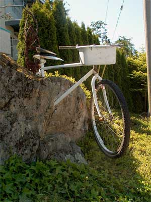"A bike ""set in stone""."