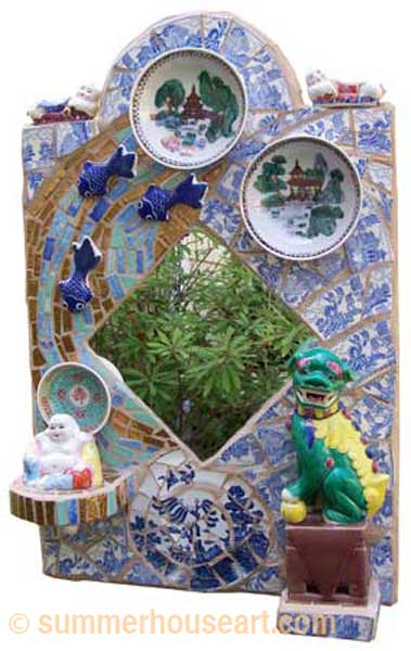 Foo Dog Mosaic, by Helen Bushell, summerhouseart.com