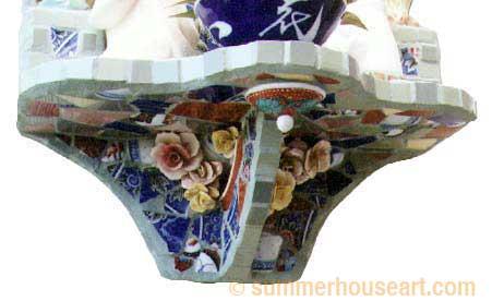 Geisha Mosaic Detail, by Helen Bushell, summerhouseart.com
