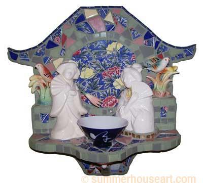 Geisha Mosaic, Helen Bushell, summerhouseart.com