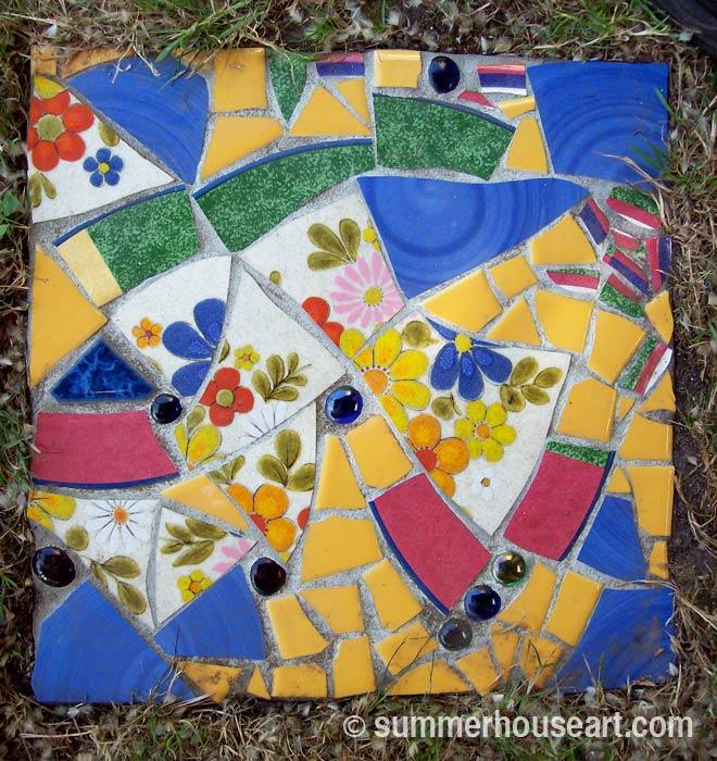 Pique Assiette Stepping stone, summerhouseart.com