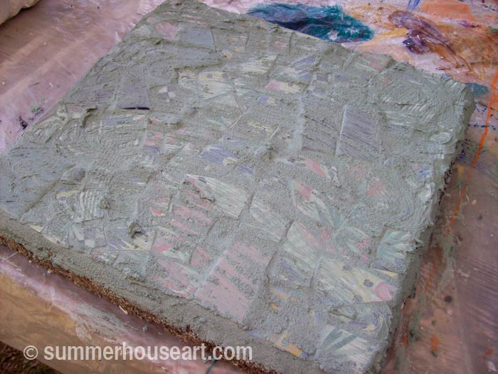 Process, Mosaic Stepping Stone Tutorial, summerhouseart.com