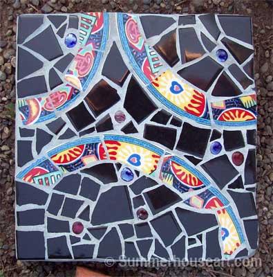 Stepping Stone mosaic, by Helen Bushell, summerhouseart.com
