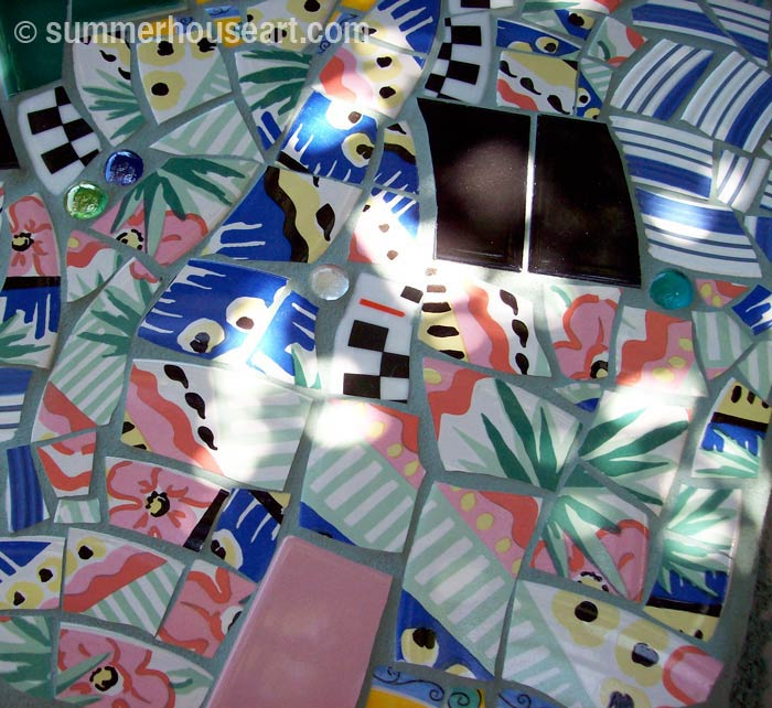 Mosaic Stepping Stone Tutorial, summerhouseart.com