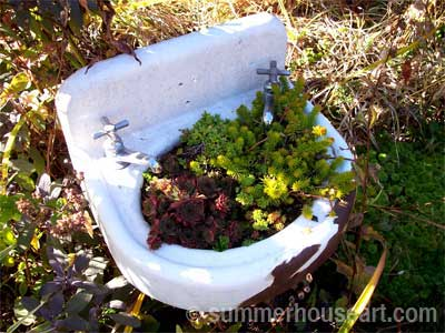 Found Basin for the garden, summerhouseart.com
