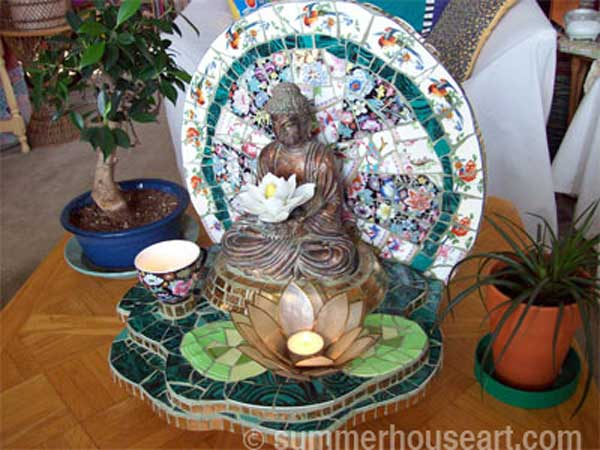 Buddha Shrine by Helen Bushell, summerhouseart.com