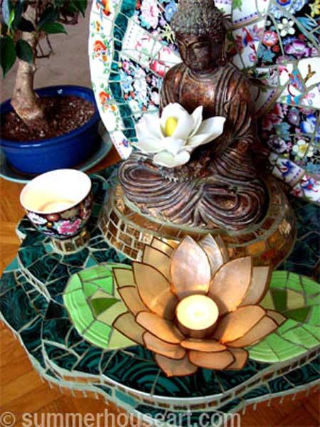 Buddha Shrine by Helen Bushell, summerhouseart.com