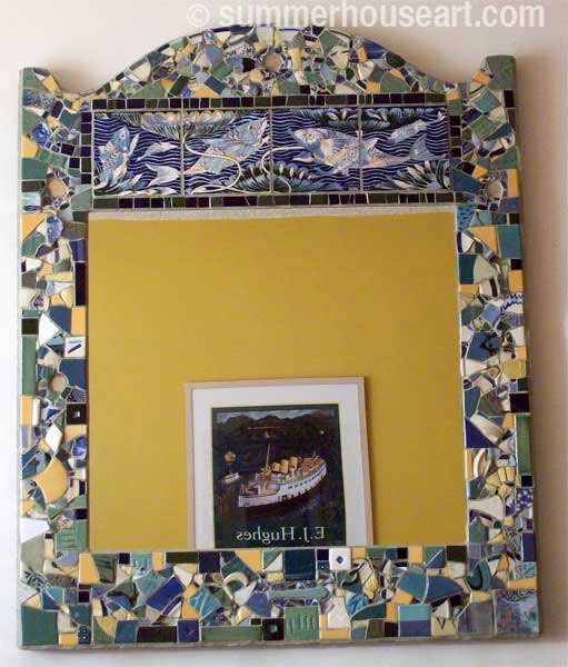 Student Marianne's finished mirror, Summerhouse Art classes