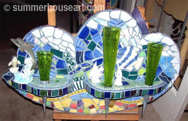 Student Susan's mosaic, Summerhouse Art Mosaic class