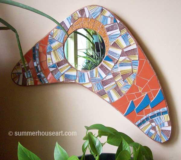 Boomerang Mirror by Helen Bushell summerhouseart.com