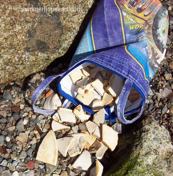 Beach Pottery Shards from Sidney BC, summerhouseart.com