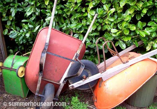 Wheelbarrow collection, summerhouseart.com